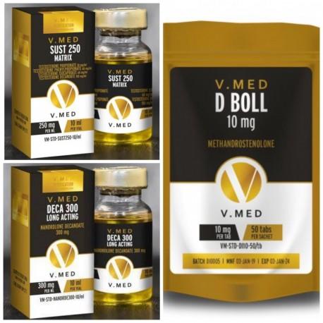 V-Med Combo 4 (Intermidiate Bulking Stack)
